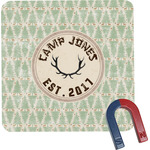 Deer Square Fridge Magnet (Personalized)