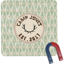 Deer Square Fridge Magnet (Personalized)