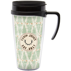 Deer Travel Mug with Handle (Personalized)