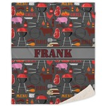 Barbeque Sherpa Throw Blanket (Personalized)