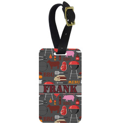 Barbeque Metal Luggage Tag w/ Name or Text
