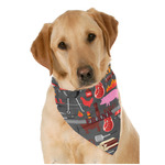 Barbeque Dog Bandana Scarf w/ Name or Text