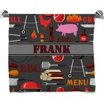 Barbeque Full Print Bath Towel (Personalized)