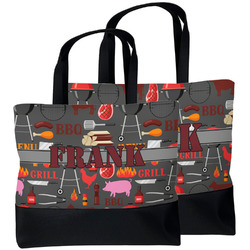 Barbeque Beach Tote Bag (Personalized)