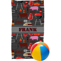Barbeque Beach Towel (Personalized)