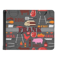 Barbeque Genuine Leather Men's Bi-fold Wallet (Personalized)