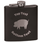 Barbeque Black Flask (Personalized)