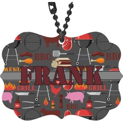Barbeque Rear View Mirror Charm (Personalized)