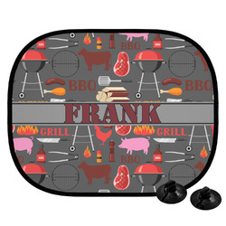 Barbeque Car Side Window Sun Shade (Personalized)