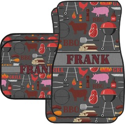 Barbeque Car Floor Mats Set - 2 Front & 2 Back (Personalized)