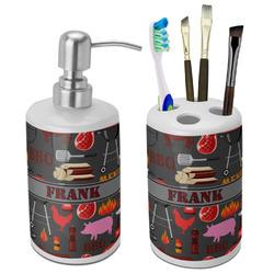 Barbeque Ceramic Bathroom Accessories Set (Personalized)