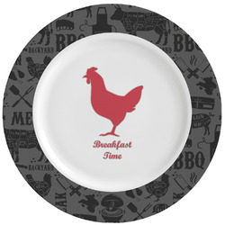 Barbeque Ceramic Dinner Plates (Set of 4) (Personalized)