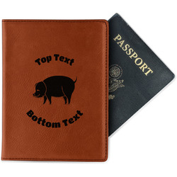 Barbeque Leatherette Passport Holder (Personalized)