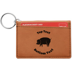 Barbeque Leatherette Keychain ID Holder (Personalized)