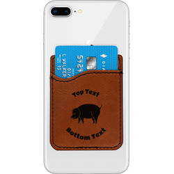 Barbeque Leatherette Phone Wallet (Personalized)