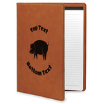 Barbeque Leatherette Portfolio with Notepad (Personalized)