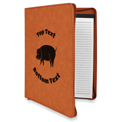 Barbeque Leatherette Zipper Portfolio with Notepad (Personalized)