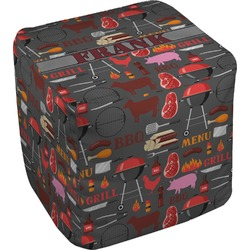 Barbeque Cube Pouf Ottoman (Personalized)