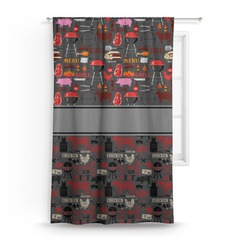 "Barbeque Curtain - 50""x84"" Panel (Personalized)"