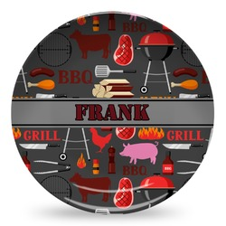 Barbeque Microwave Safe Plastic Plate - Composite Polymer (Personalized)