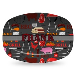 Barbeque Plastic Platter - Microwave & Oven Safe Composite Polymer (Personalized)