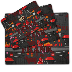 Barbeque Dog Food Mat w/ Name or Text
