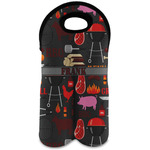 Barbeque Wine Tote Bag (2 Bottles) (Personalized)