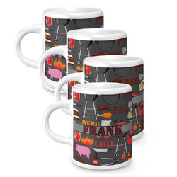 Barbeque Espresso Mugs - Set of 4 (Personalized)