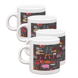 Barbeque Espresso Mugs - Set of 4 (Personalized)