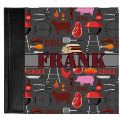 Barbeque Genuine Leather Baby Memory Book (Personalized)