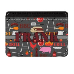 Barbeque Genuine Leather Front Pocket Wallet (Personalized)