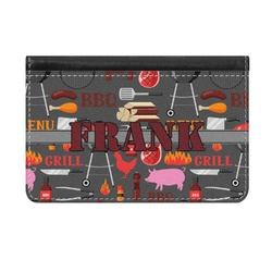 Barbeque Genuine Leather ID & Card Wallet - Slim Style (Personalized)