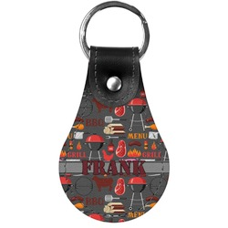 Barbeque Genuine Leather  Keychain (Personalized)