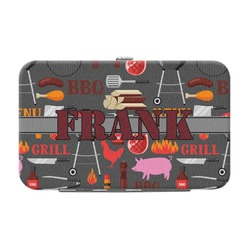 Barbeque Genuine Leather Small Framed Wallet (Personalized)