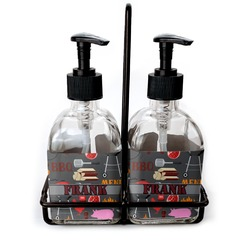 Barbeque Soap & Lotion Dispenser Set (Glass) (Personalized)