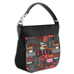 Barbeque Hobo Purse w/ Genuine Leather Trim (Personalized)