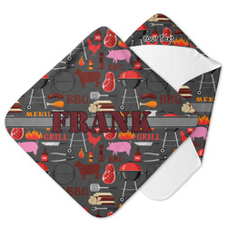 Barbeque Hooded Baby Towel (Personalized)