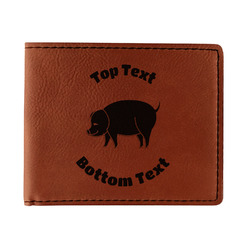 Barbeque Leatherette Bifold Wallet (Personalized)