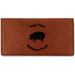 Barbeque Leatherette Checkbook Holder - Double Sided (Personalized)