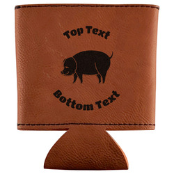 Barbeque Leatherette Can Sleeve (Personalized)