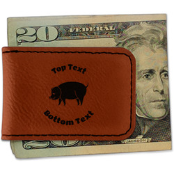Barbeque Leatherette Magnetic Money Clip (Personalized)
