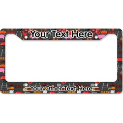 Barbeque License Plate Frame (Personalized)