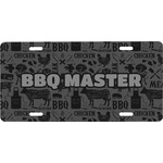 Barbeque Front License Plate (Personalized)