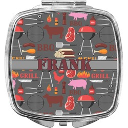 Barbeque Compact Makeup Mirror (Personalized)