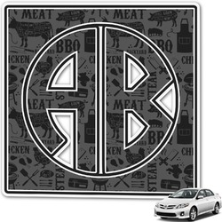 Barbeque Monogram Car Decal (Personalized)