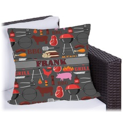 Barbeque Outdoor Pillow (Personalized)