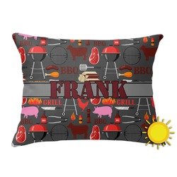 Barbeque Outdoor Throw Pillow (Rectangular) (Personalized)