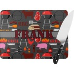 Barbeque Rectangular Glass Cutting Board (Personalized)
