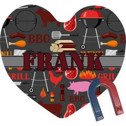 Barbeque Heart Fridge Magnet (Personalized)