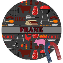 Barbeque Round Magnet (Personalized)